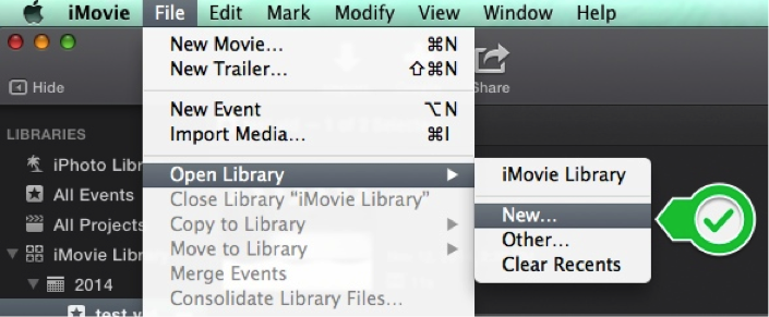 How do I save an unfinished iMovie project for completion