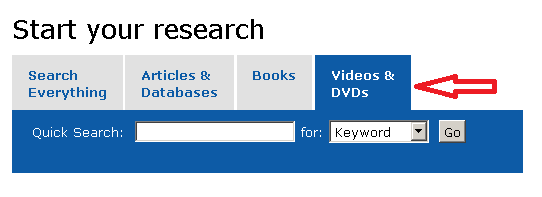 Videos and DVDs tab